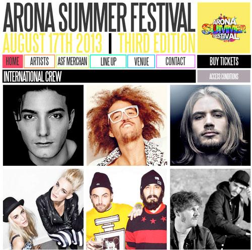 ARONA SUMMER FESTIVAL 2013 TENERIFE