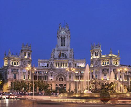 CIBELES PISTA DE HIELO MADRID NAVIDAD 2013