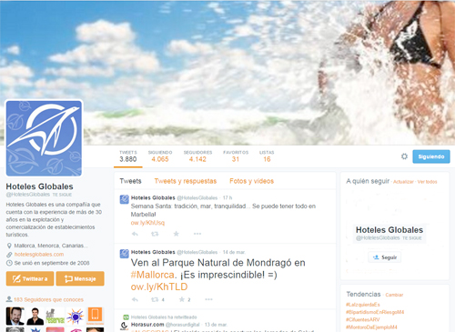 twitter hoteles globales