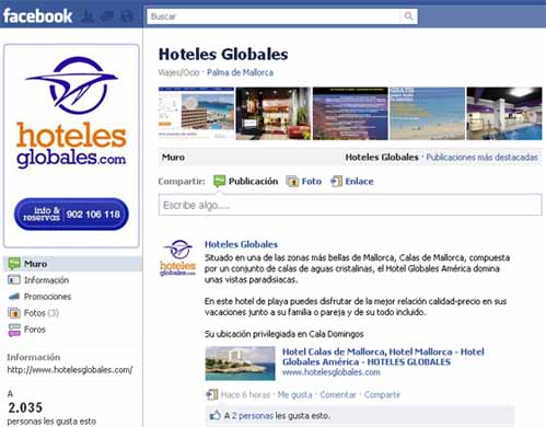 hoteles globales Facebook