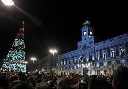 Nochevieja 2012 en Madrid. Cotillon, cena y fiesta.