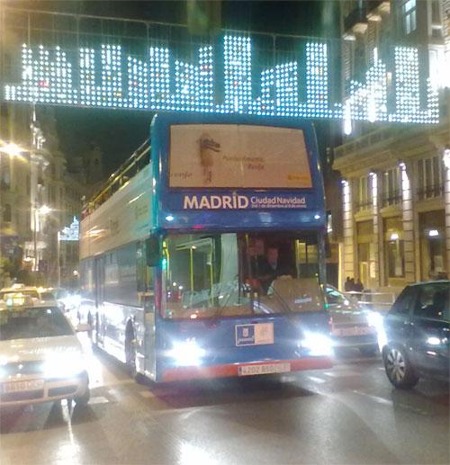 Hoteles Madrid Navidad Fin de Año Reyes. Autobús Navibus 2012.