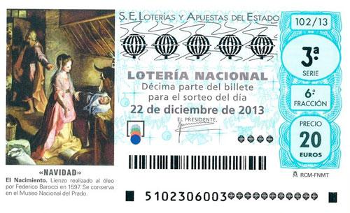 SORTEO LOTERIA NAVIDAD 2013 MADRID