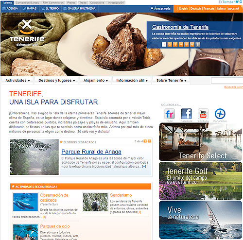 web turismo tenerife, hoteles tenerife