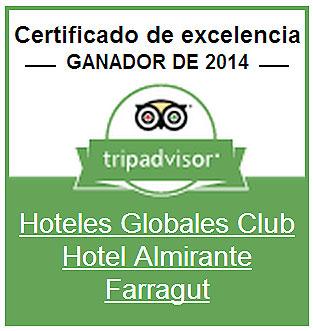 certificado excelencia 2014 hotel cala en forcat menorca