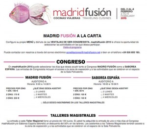 madrid fusion 2015 programa