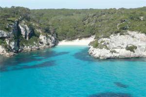primera línea de playa menorca