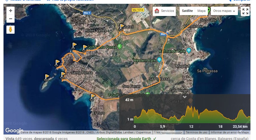 Rutas en bici desde Palmanova