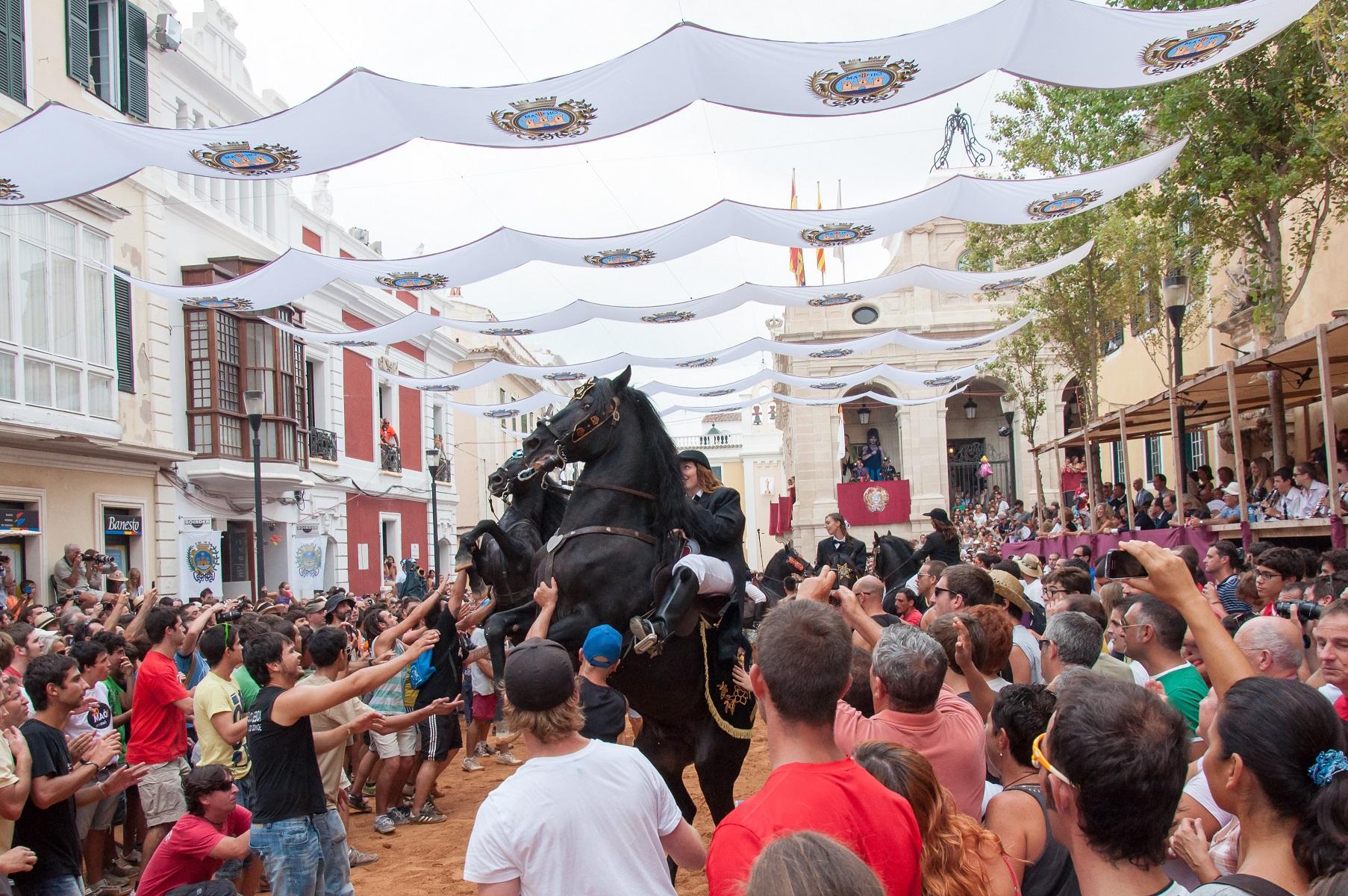 Fiestas de Gràcia en Mahón